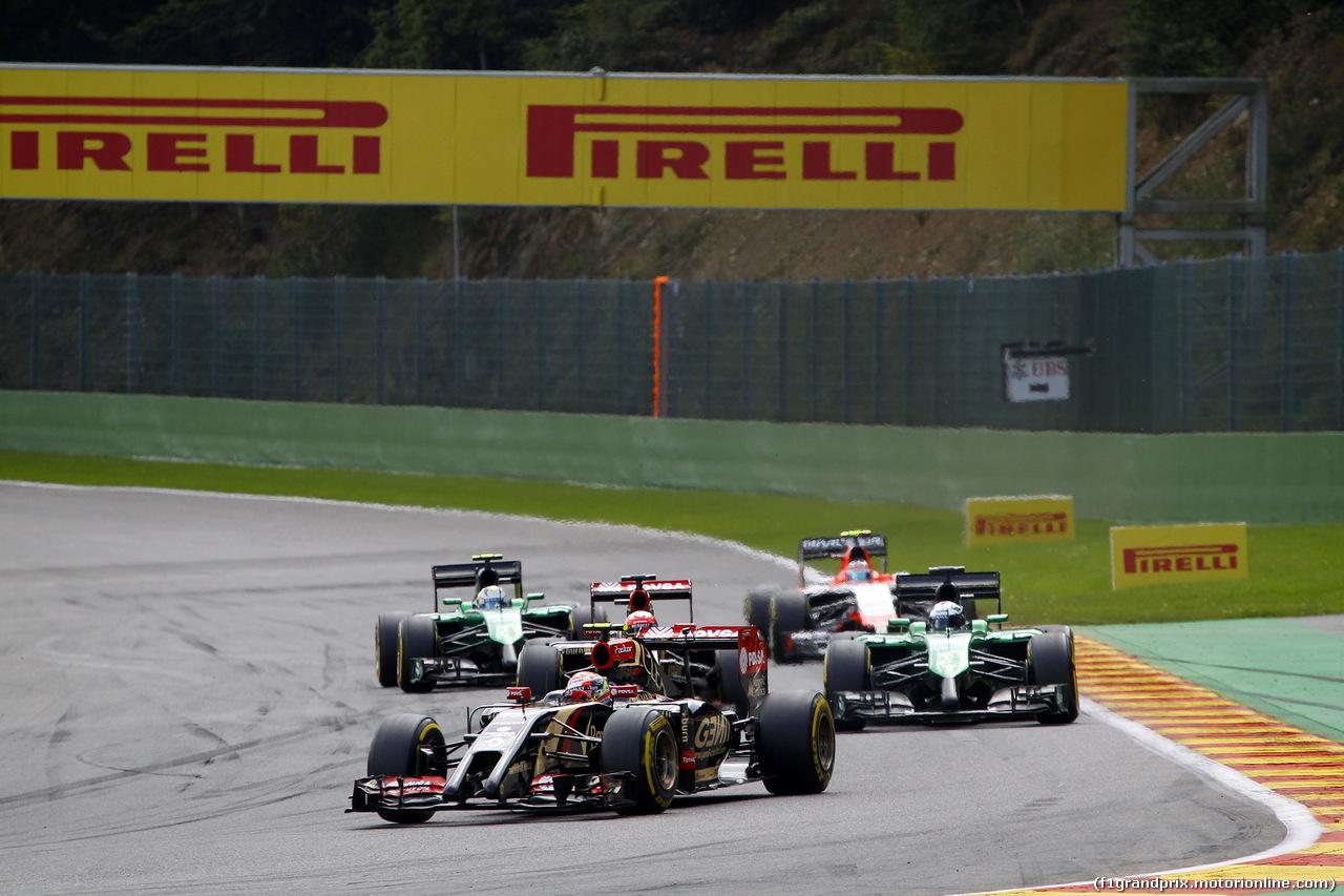 GP BELGIO, 24.08.2014- Gara, Pastor Maldonado (VEN) Lotus F1 Team E22