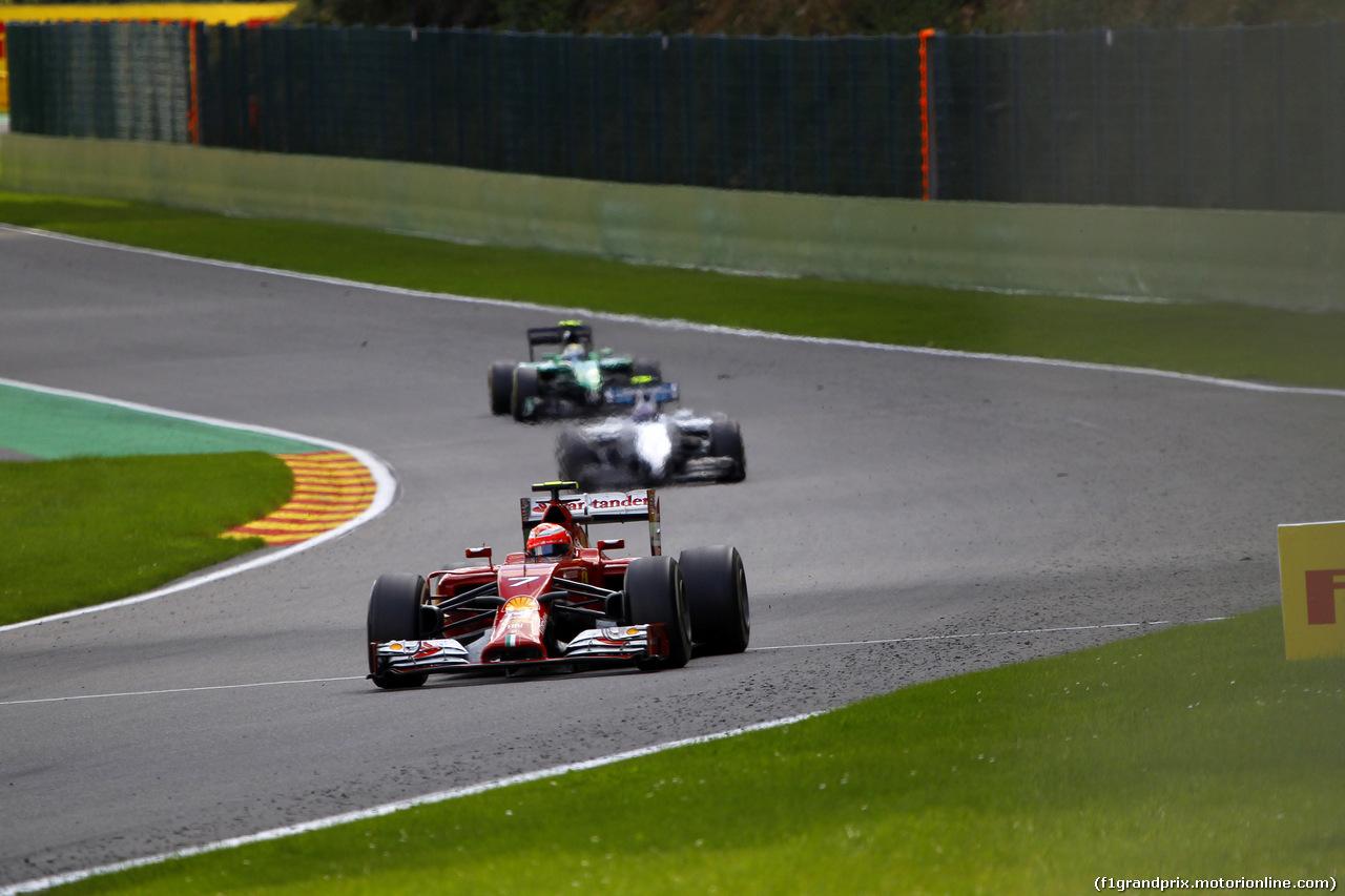 GP BELGIO, 24.08.2014- Gara, Kimi Raikkonen (FIN) Ferrari F14-T