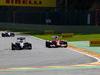 GP BELGIO, 24.08.2014- Gara, Kevin Magnussen (DEN) McLaren Mercedes MP4-29 e Fernando Alonso (ESP) Ferrari F14-T