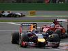 GP BELGIO, 24.08.2014- Gara, Sebastian Vettel (GER) Red Bull Racing RB10 davanti a Fernando Alonso (ESP) Ferrari F14-T