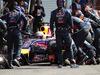 GP BELGIO, 24.08.2014- Gara, Pit stop, Sebastian Vettel (GER) Red Bull Racing RB10