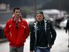 GP BELGIO, 23.08.2014- Free Practice 3, Alexander Rossi (USA) Marussia F1 Team e Marcus Ericsson (SUE) Caterham F1 Team CT-04