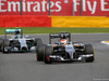 GP BELGIO, 23.08.2014- Free Practice 3, Nico Rosberg (GER) Mercedes AMG F1 W05 e Adrian Sutil (GER) Sauber F1 Team C33