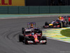 GP BRASILE, 09.11.2014 - Gara, Fernando Alonso (ESP) Ferrari F14-T davanti a Sebastian Vettel (GER) Red Bull Racing RB10