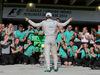 GP BRASILE, 09.11.2014 - Gara, Festeggiamenti, Nico Rosberg (GER) Mercedes AMG F1 W05 vincitore e secondo Lewis Hamilton (GBR) Mercedes AMG F1 W05