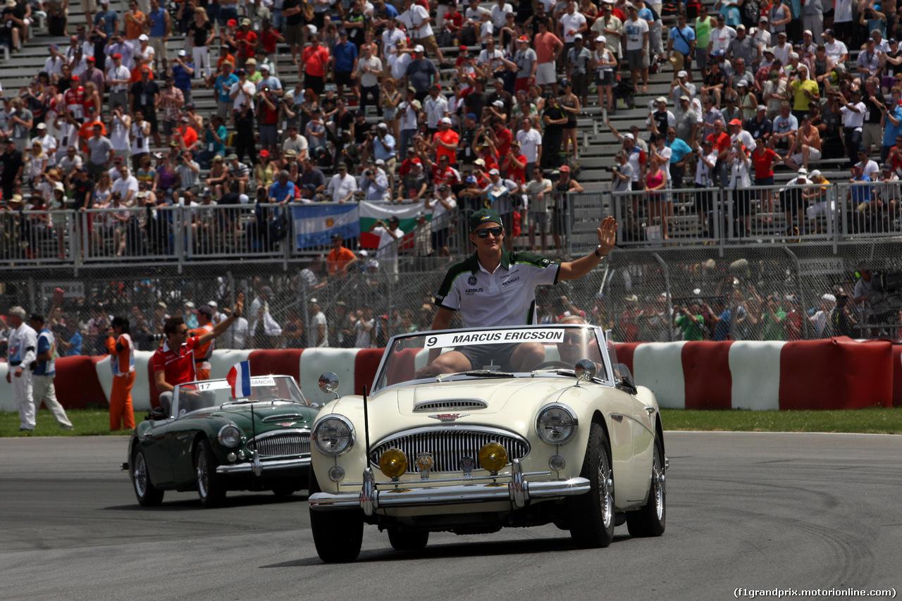 GP CANADA, 08.06.2014- Marcus Ericsson (SUE) Caterham F1 Team CT-04