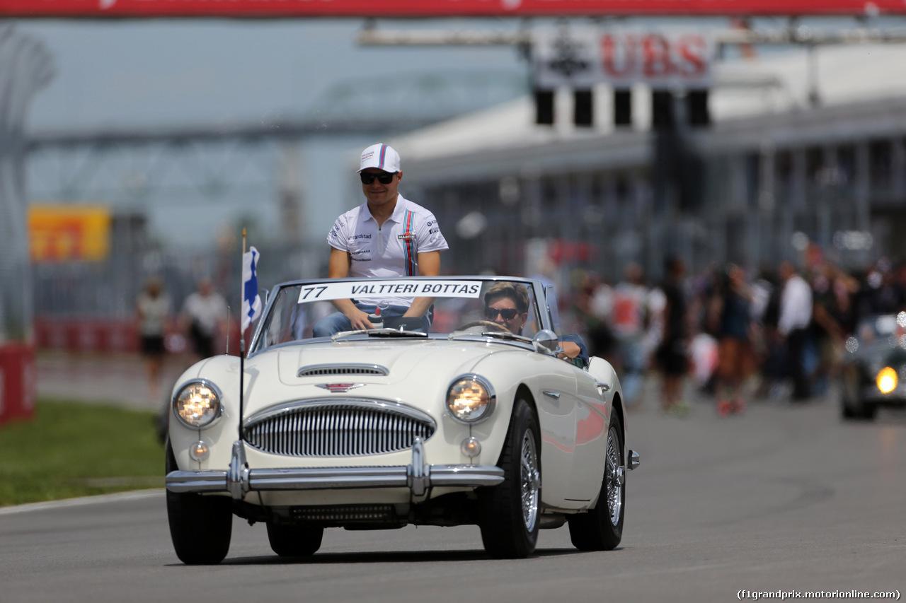 GP CANADA, 08.06.2014- Valtteri Bottas (FIN) Williams F1 Team FW36 at drivers parade
