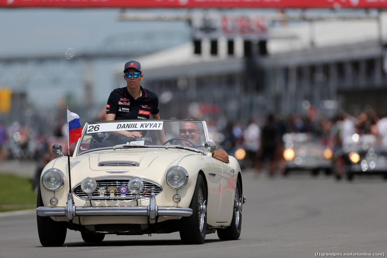 GP CANADA, 08.06.2014- Daniil Kvyat (RUS) Scuderia Toro Rosso STR9 at drivers parade