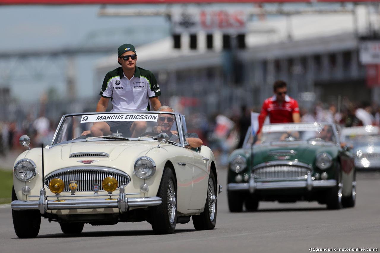 GP CANADA, 08.06.2014- Marcus Ericsson (SUE) Caterham F1 Team CT-04 at drivers parade