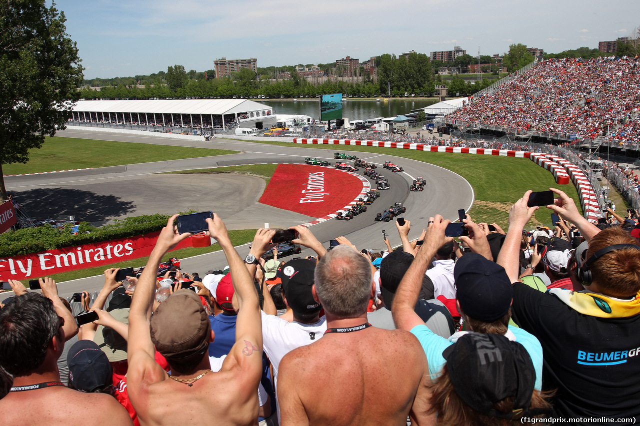 GP CANADA, 08.06.2014- Gara, Start of the race