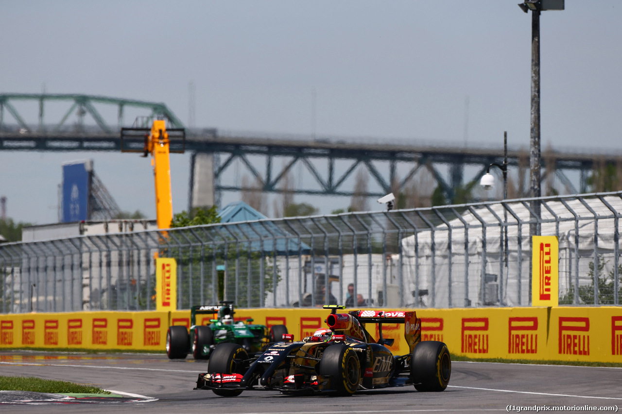 GP CANADA, 08.06.2014- Gara, Romain Grosjean (FRA) Lotus F1 Team E22