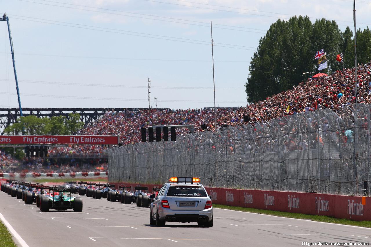 GP CANADA, 08.06.2014- Gara, Start of the race