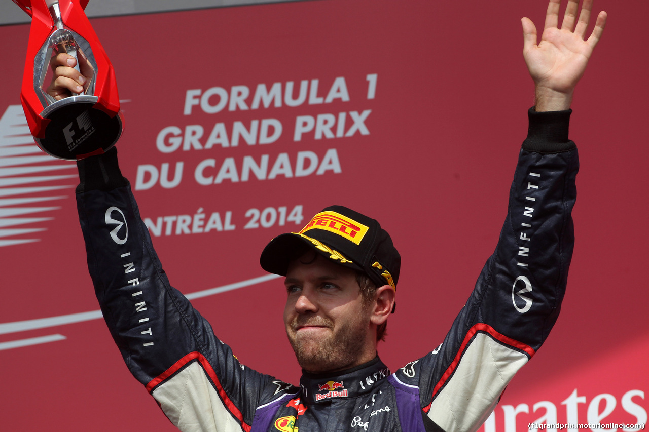 GP CANADA, 08.06.2014- Gara, terzo Sebastian Vettel (GER) Red Bull Racing RB10