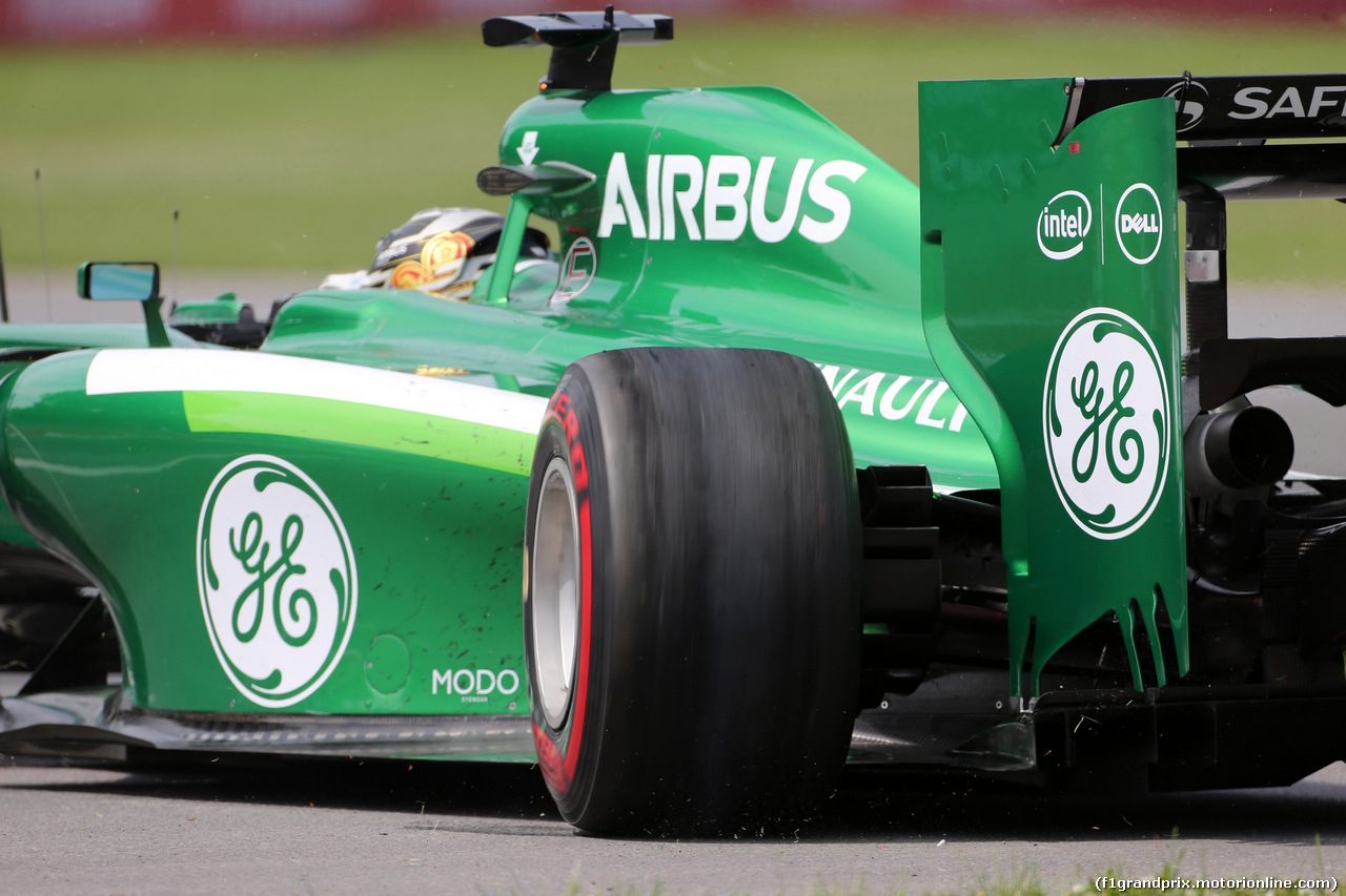GP CANADA, 08.06.2014- Gara, Kamui Kobayashi (JAP) Caterham F1 Team CT-04 retires from the race