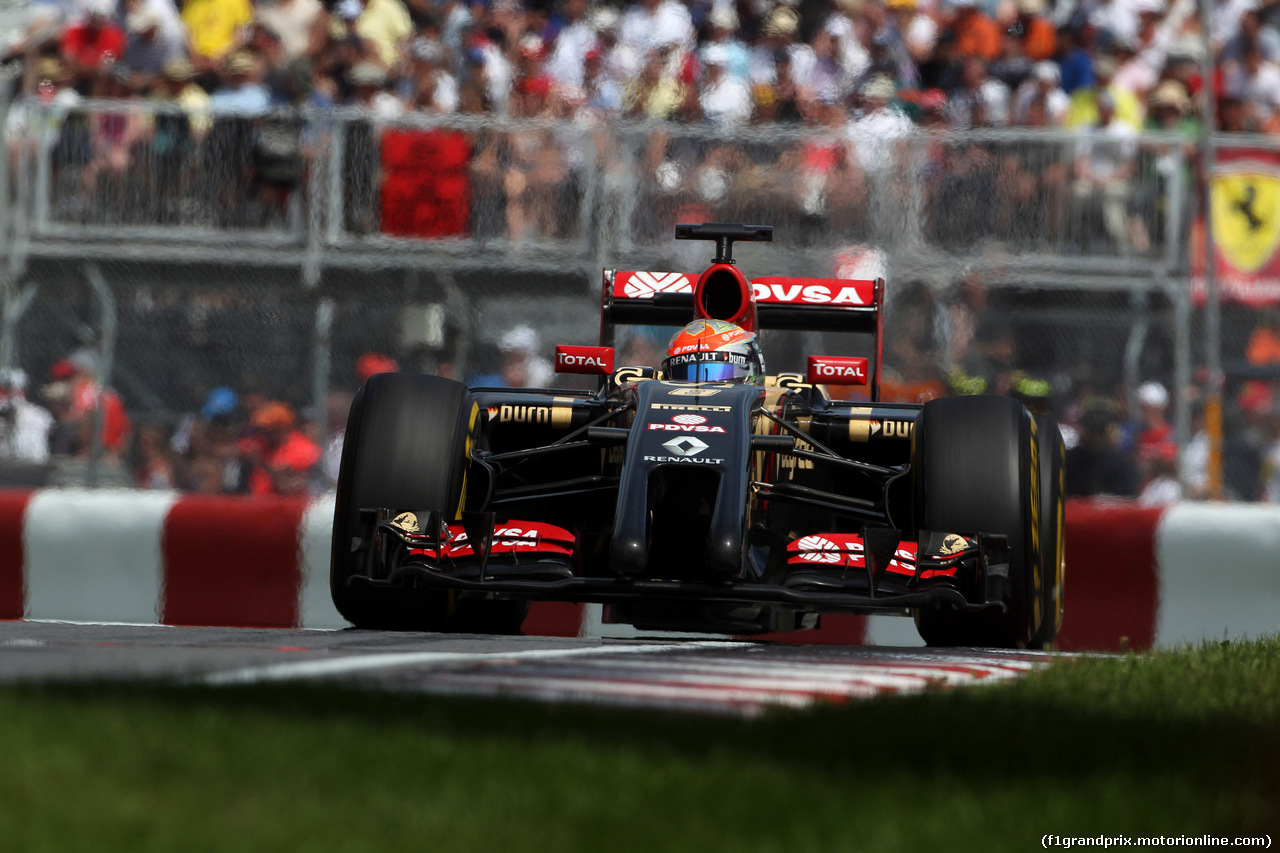 GP CANADA, 08.06.2014- Gara, Romain Grosjean (FRA) Lotus F1 Team E22