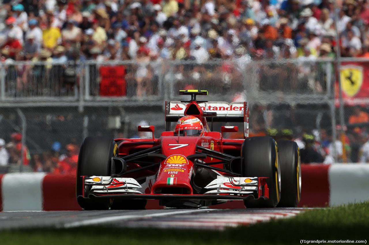 GP CANADA, 08.06.2014- Gara,Kimi Raikkonen (FIN) Ferrari F14-T