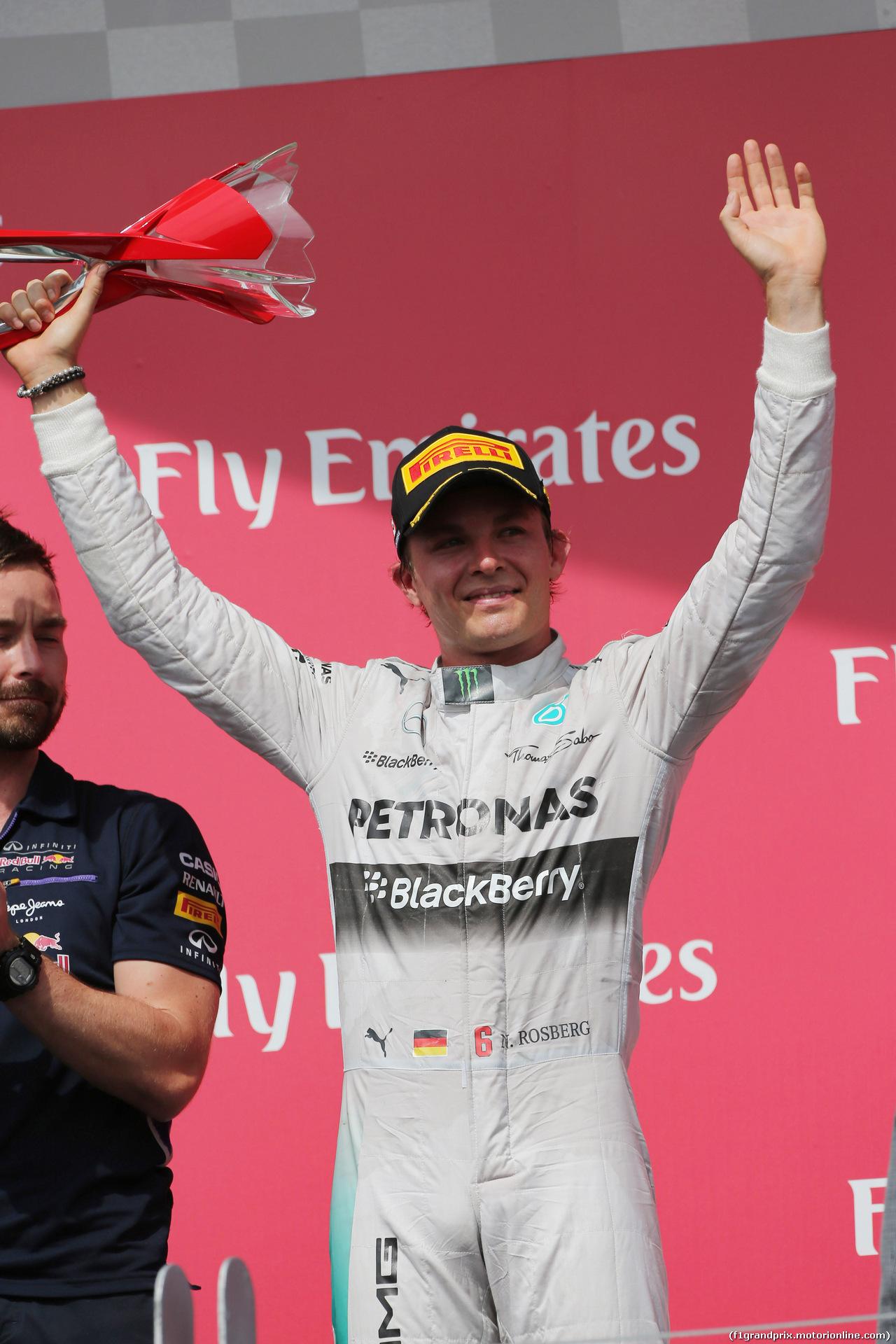 GP CANADA, 08.06.2014- Gara, secondo Nico Rosberg (GER) Mercedes AMG F1 W05