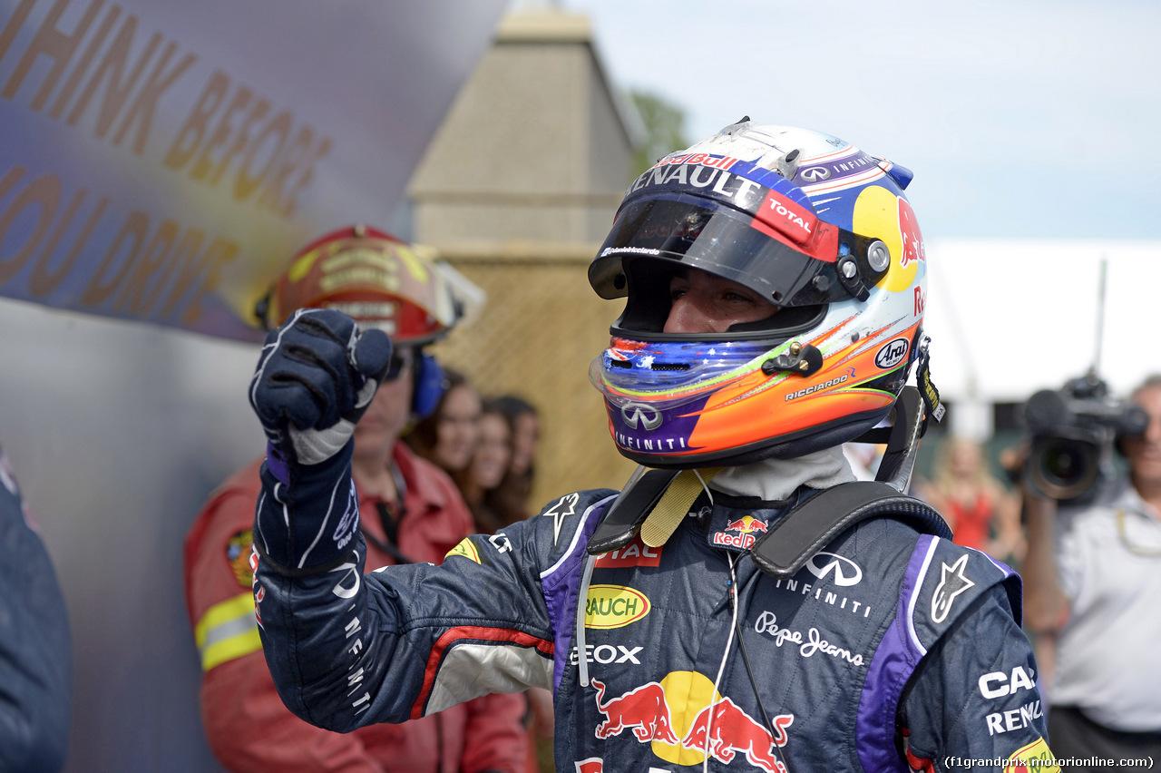 GP CANADA, 08.06.2014- Gara, 1st position Daniel Ricciardo (AUS) Red Bull Racing RB10