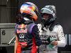 GP CANADA, 08.06.2014- Gara, Daniel Ricciardo (AUS) Red Bull Racing RB10 vincitore e secondo Nico Rosberg (GER) Mercedes AMG F1 W05