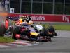 GP CANADA, 08.06.2014- Gara, Daniel Ricciardo (AUS) Red Bull Racing RB10 overtakes Sergio Perez (MEX) Sahara Force India F1 VJM07