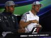 GP CANADA, 05.06.2014- Conferenza Stampa, Lewis Hamilton (GBR) Mercedes AMG F1 W05 e Jenson Button (GBR) McLaren Mercedes MP4-29
