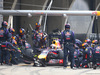 GP CINA, 20.04.2014- Gara, Daniel Ricciardo (AUS) Infiniti Red Bull Racing RB10 during pit stop