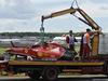 GP GRAN BRETAGNA, 06.07.2014 - Gara, The damaged car of Kimi Raikkonen (FIN) Ferrari F147