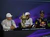 GP GRAN BRETAGNA, 06.07.2014 - Conferenza Stampa, Lewis Hamilton (GBR) Mercedes AMG F1 W05 (vincitore), Valtteri Bottas (FIN) Williams F1 Team FW36 (secondo) e Daniel Ricciardo (AUS) Infiniti Red Bull Racing RB10 (terzo)