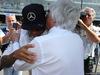 GP ITALIA, 07.09.2014 - Gara, Lewis Hamilton (GBR) Mercedes AMG F1 W05 e Bernie Ecclestone (GBR), President e CEO of FOM