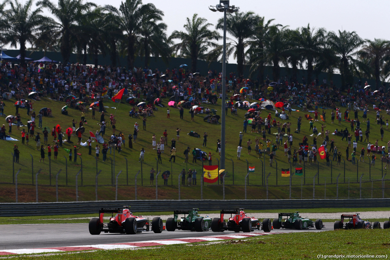 GP MALESIA, 30.03.2014 - Gara, Start of the race, Max Chilton (GBR), Marussia F1 Team MR03