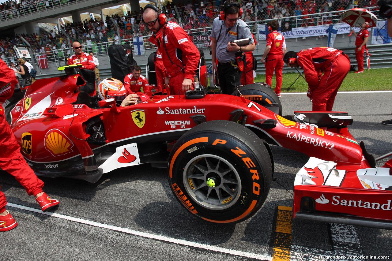 GP MALESIA, 30.03.2014 - Gara,Kimi Raikkonen (FIN) Ferrari F14-T