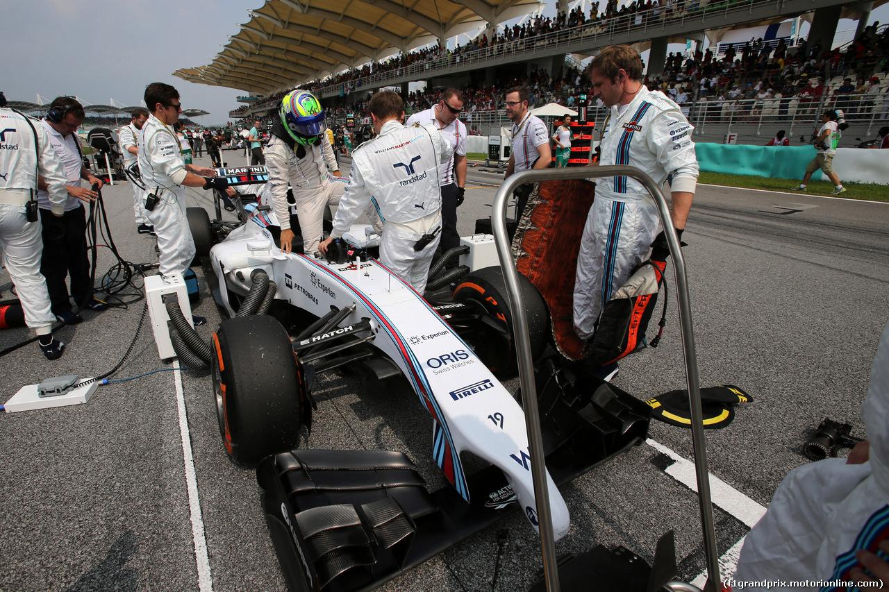 GP MALESIA, 30.03.2014 - Gara, Felipe Massa (BRA) Williams F1 Team FW36