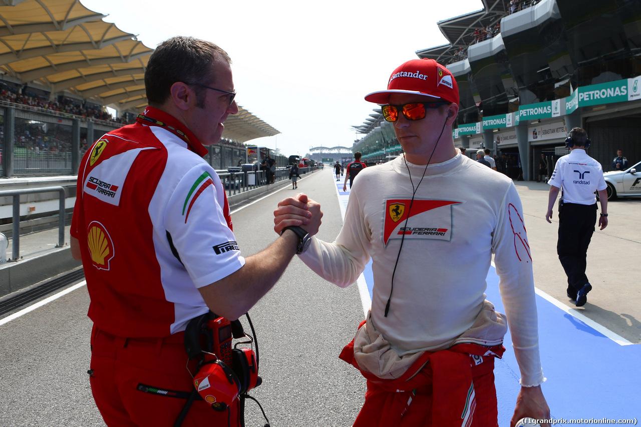 GP MALESIA, 30.03.2014 - Gara, Stefano Domenicali (ITA), Ferrari General Director. e Kimi Raikkonen (FIN) Ferrari F14-T