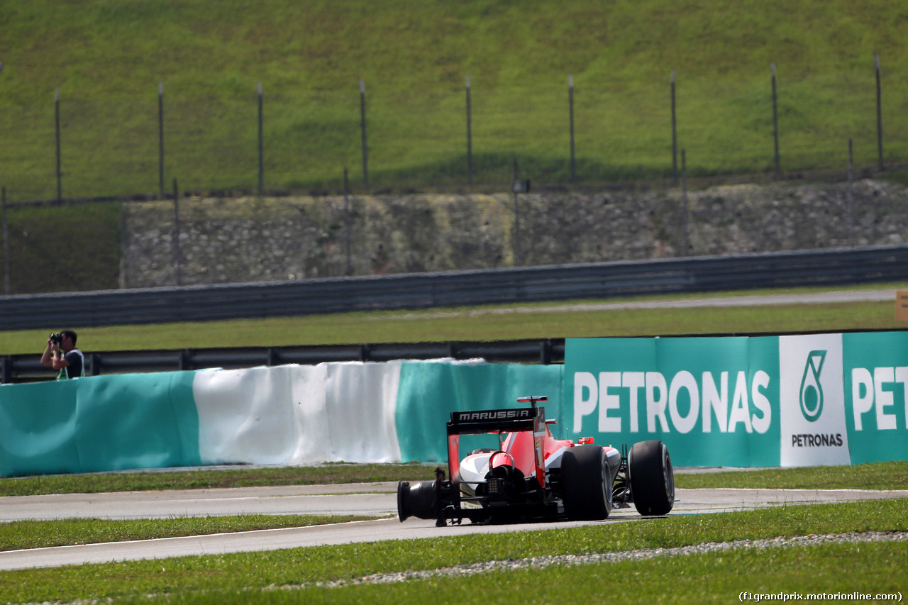 GP MALESIA, 30.03.2014 - Gara, Jules Bianchi (FRA) Marussia F1 Team MR03 retires from the race