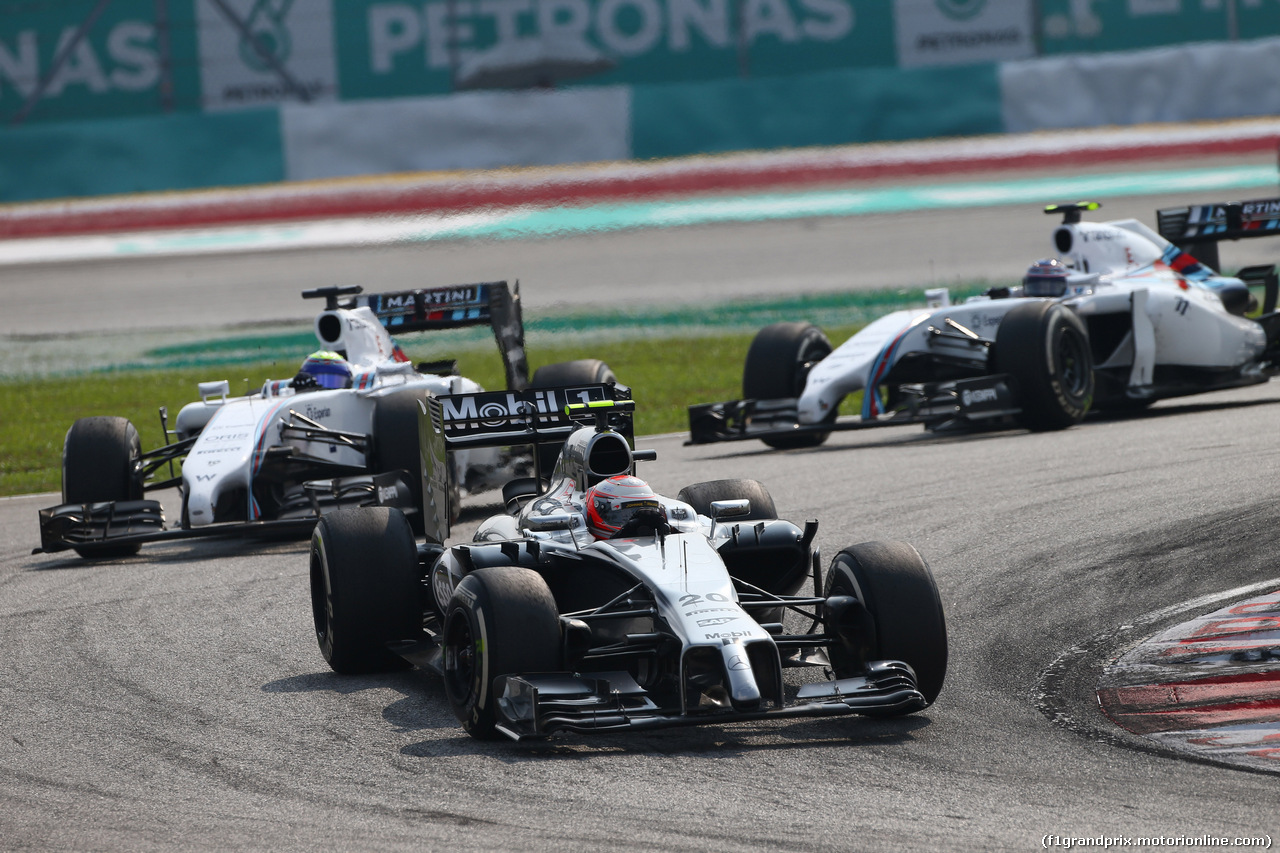 GP MALESIA, 30.03.2014 - Gara, Kevin Magnussen (DEN) McLaren Mercedes MP4-29