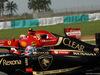 GP MALESIA, 28.03.2014- Free Practice 1, Romain Grosjean (FRA) Lotus F1 Team E22 stopped on the track e Kimi Raikkonen (FIN) Ferrari F14-T
