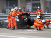 GP MONACO, 25.05.2014- Gara, Crash, Adrian Sutil (GER) Sauber F1 Team C33