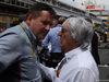 GP SPAGNA, 11.05.2014- Paul Hembery, Pirelli Motorspor Director e Bernie Ecclestone (GBR), President e CEO of FOM