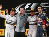 GP SPAGNA, 11.05.2014-  Gara, 1st position Lewis Hamilton (GBR) Mercedes AMG F1 W05, secondo Nico Rosberg (GER) Mercedes AMG F1 W05 e terzo Daniel Ricciardo (AUS) Red Bull Racing RB10