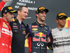 GP UNGHERIA, 27.07.2014- Gara, 1st position Daniel Ricciardo (AUS) Red Bull Racing RB10, secondo Fernando Alonso (ESP) Ferrari F14-T e terzo Lewis Hamilton (GBR) Mercedes AMG F1 W05
