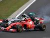 GP UNGHERIA, 27.07.2014- Gara, Kimi Raikkonen (FIN) Ferrari F14-T e Nico Rosberg (GER) Mercedes AMG F1 W05