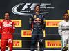 GP UNGHERIA, 27.07.2014- Gara, Daniel Ricciardo (AUS) Red Bull Racing RB10, vincitore, secondo Fernando Alonso (ESP) Ferrari F14-T e terzo Lewis Hamilton (GBR) Mercedes AMG F1 W05