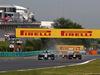 GP UNGHERIA, 27.07.2014- Gara, Nico Rosberg (GER) Mercedes AMG F1 W05 e Sebastian Vettel (GER) Red Bull Racing RB10