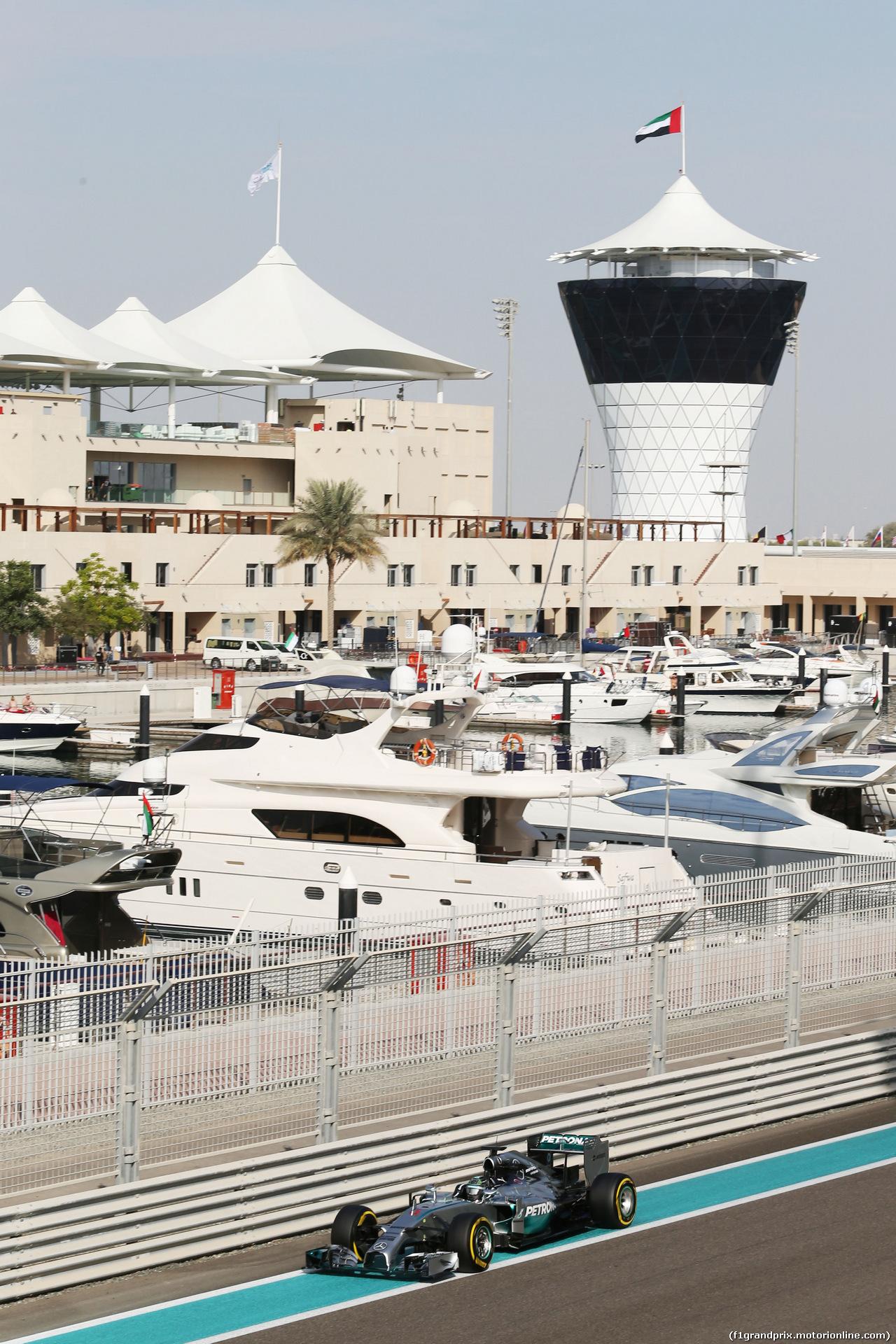 TEST F1 ABU DHABI 25 NOVEMBRE, Nico Rosberg (GER) Mercedes AMG F1 W05. 25.11.2014.