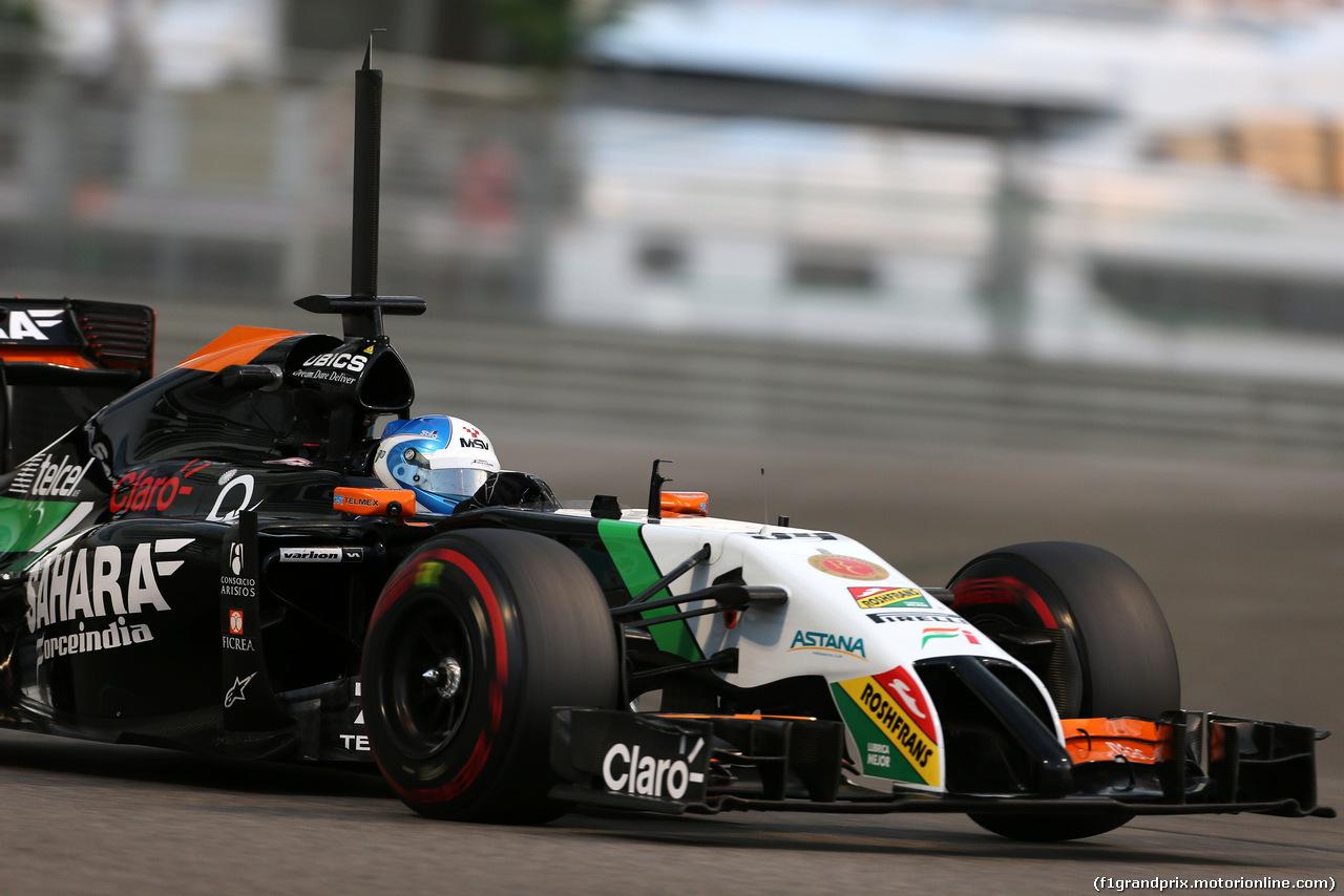 TEST F1 ABU DHABI 25 NOVEMBRE, Jolyon Palmer (GBR), Force India F1  25.11.2014.