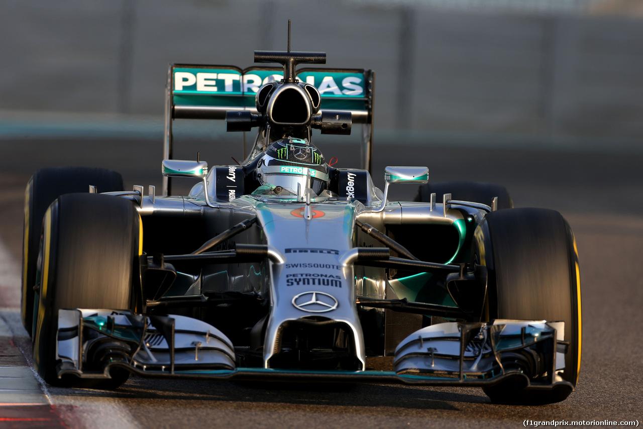 TEST F1 ABU DHABI 25 NOVEMBRE, Nico Rosberg (GER), Mercedes AMG F1 Team  25.11.2014.