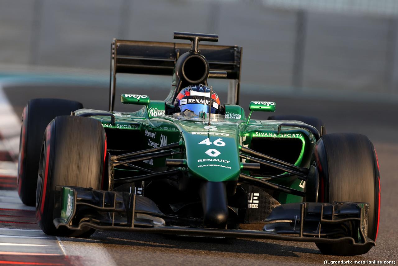 TEST F1 ABU DHABI 25 NOVEMBRE, Will Stevens (GBR), Caterham F1 Team  25.11.2014.
