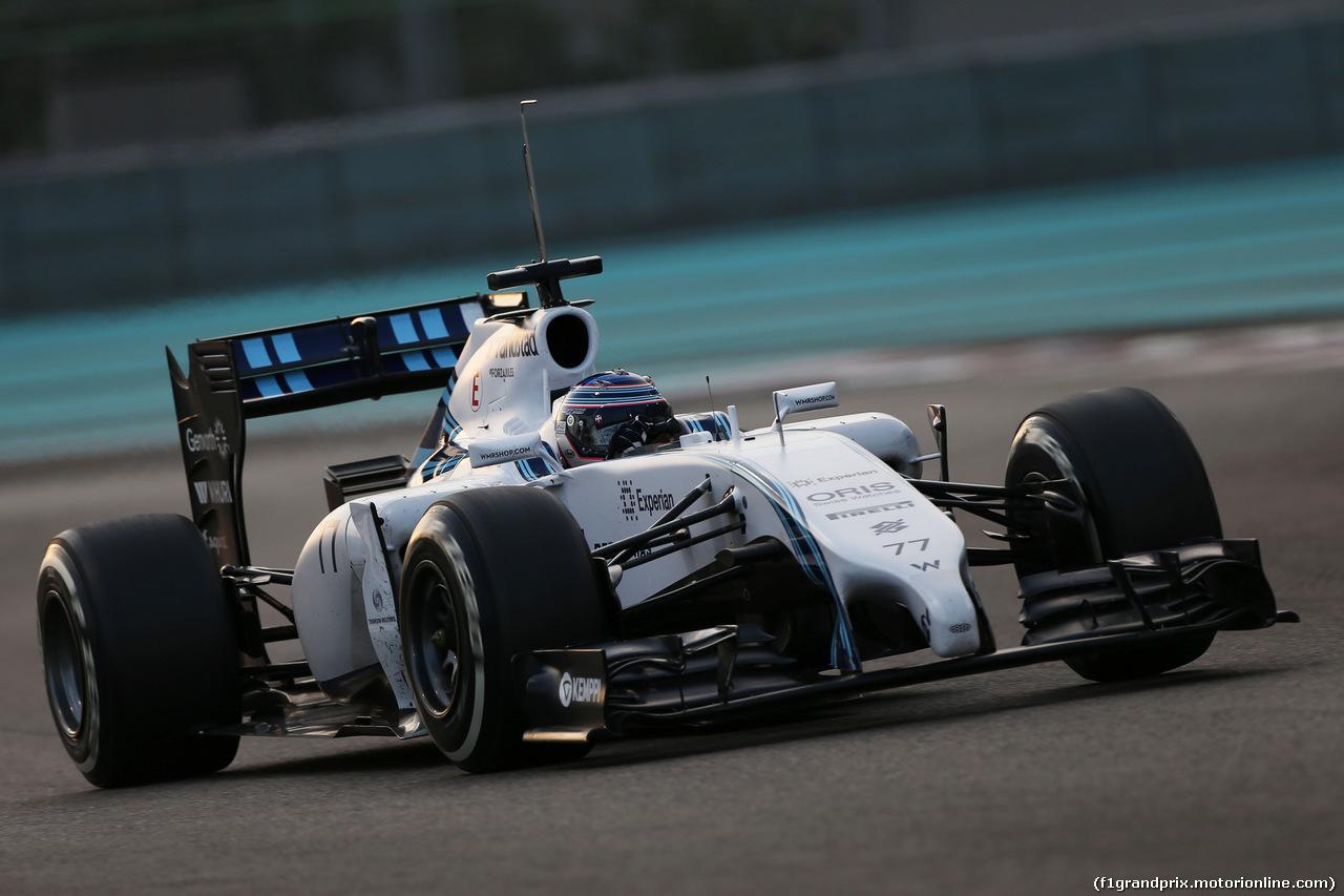 TEST F1 ABU DHABI 25 NOVEMBRE, Valtteri Bottas (FIN) Williams FW36. 25.11.2014.