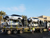 TEST F1 ABU DHABI 25 NOVEMBRE, FIA Medical e Safety Cars are loaded onto a transporter. 25.11.2014.