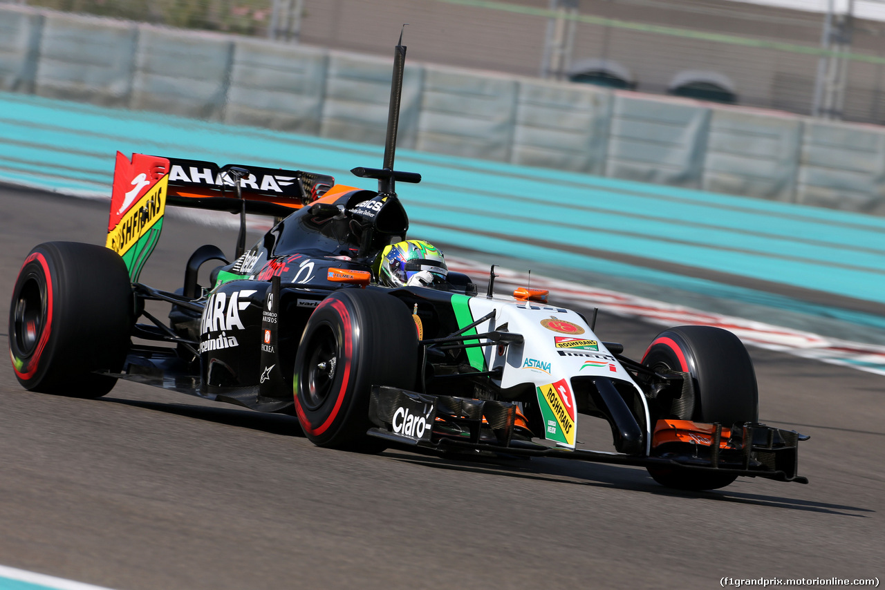 TEST F1 ABU DHABI 26 NOVEMBRE, Spike Goddard (AUS), Force India F1 Team  26.11.2014.